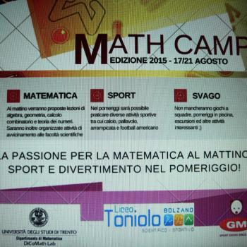 'MATH CAMP' AL TONIOLO DAL 17-21 AGOSTO, MATEMATICA, SPORT, DIVERTIMENTO